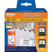 "Brother DK1241 Large Shipping Labels, 4"" x 6"""