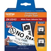 "Brother® ""DK"" Series Printer Label Tape, 4"" Continuous Feed for QL1050"