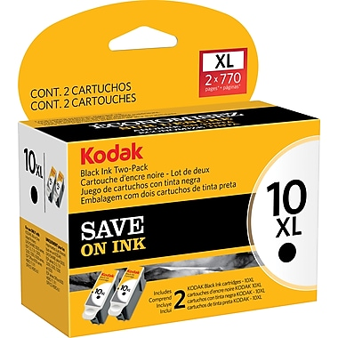 Kodak 10BXL Black Ink Cartridge (1270917), High Yield 2/Pack