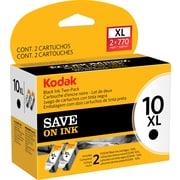 Kodak 10BXL Black High Yield Ink Cartridge (1270917), Multi-pack (2 cart per pack)
