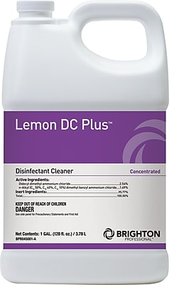 Brighton Professional™ Lemon DC Plus™ Disinfectant Cleaner, Lemon Scent, 1 gal. (BPR045001-A/185)