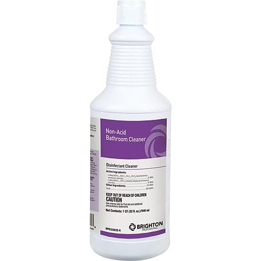 Brighton Professional Non Acid Restroom Cleaner Disinfectant Bathroom Cleaner Floral Scent 32