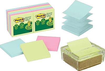 Post-it® Pop-Up Note Dispenser with Notes, 3