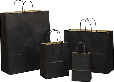 Tinted Color Shadow India Ink with Stripe Shopping Bag, Size 8