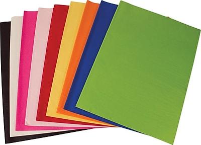Shamrock SatinWrap Solid Black Tissue Paper Sheets, Size 20