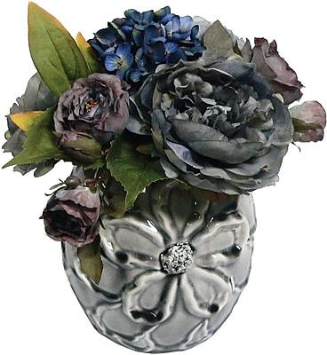 Laura Ashley® Hydrangea and Peony Arrangement #2 in a Designer Ceramic Container