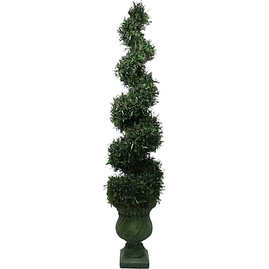 Laura Ashley® 7ft Silk Spiral Topiary in Decorative Planter