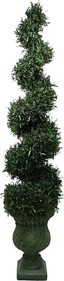 Laura Ashley 7ft Silk Spiral Topiary in Decorative Planter