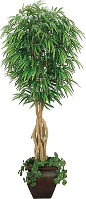 Laura Ashley® 7' Silk Willow Ficus Tree in a Decorative Planter