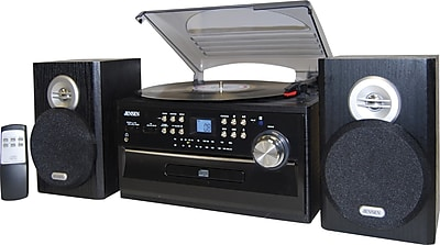 Jensen JTA-475 3-Speed Stereo Turntable with CD System, Cassette and AM/FM Stereo Radio