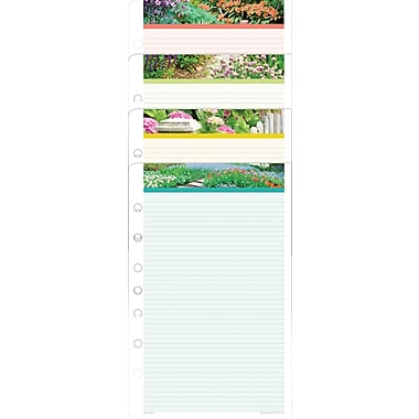 Day-Timer® Garden Path Lined Note Pads, 5-1/2