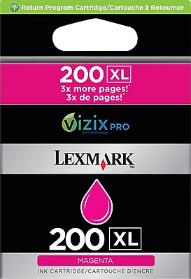 Lexmark 200XL Magenta Ink Cartridge (14L0176), High Yield