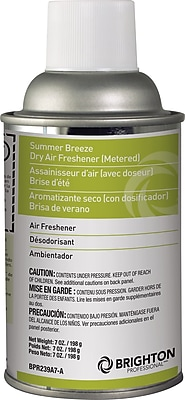 Brighton Professional™ Aerosol Refill Metered Air Freshener, Summer Breeze, 7 Oz., 12/Ct