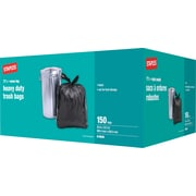 "Staples® Heavy-Duty Garbage Bags, Black, 26"" x 32.5"", 150/Pack"