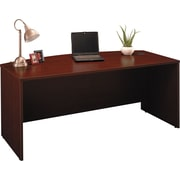 Bush Westfield Bow Front Desk,Cherry Mahogany