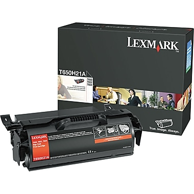 Lexmark T650H21A Black Toner Cartridge, High Yield