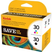 Kodak – Cartouches d'encre noire/couleur 30B/30C, paquet combiné (8781098)