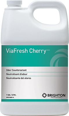 Brighton Professional™ ViaFresh™ Odor Eliminator, Cherry Scent, 1 Gallon, 4/Ct