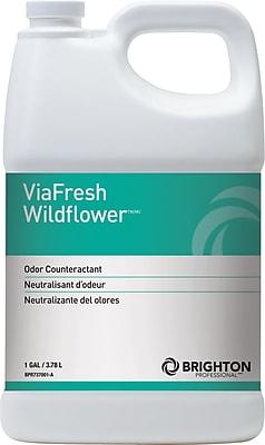 Brighton Professional™ ViaFresh™ Odor Eliminator, Wildflower Scent, 1 Gallon, 4/Ct