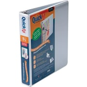 Stride QuickFit Deluxe Junior 1.5-Inch D 3-Ring View Binder, White (87020)