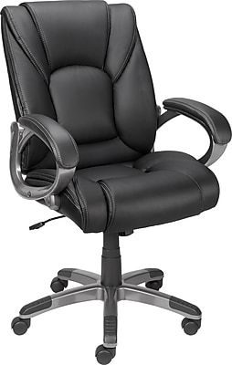 Staples Siddons Managers Chair, Fabric, Black, Seat: 17.5
