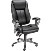 Staples Santoro Bonded Leather High-Back Task Chair, Black