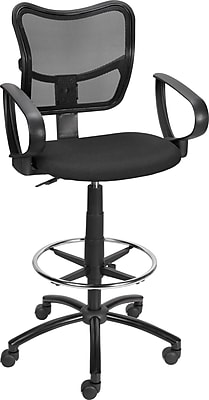 Staples Mesh Back Drafting Stool Black Staples
