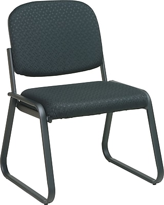 Office Star ™ Deluxe Sled Base Armless Guest Chair; Midnight