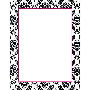 Great Papers® Black & White Damask Stationery