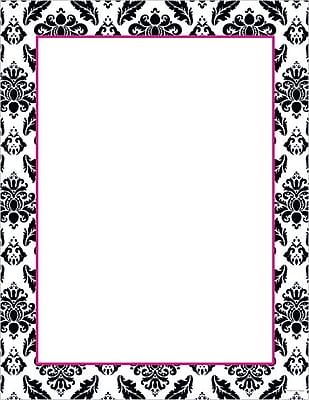 Great Papers® Black & White Damask Stationery, 80/Pack (2012027)