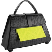 "Post-it® Pop-Up Dispenser for 3"" x 3"" Notes, Black, Purse-Shaped, 1 Pad/Pack (PD654US)"