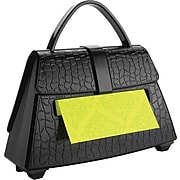 """Post-it® Pop-Up Dispenser for 3"""" x 3"""" Notes, Black, Purse-Shaped, 1 Pad/Pack (PD654US)"""