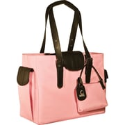 WIB Liberator Leather look Trim Laptop Tote Bag, Pink, 16.1""