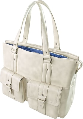 WIB Nairobi Leather Look Trim, Laptop Tote Bag 16.1