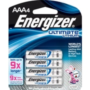 Energizer® Lithium AAA Batteries, 4/Pack