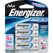 Energizer® e2 Lithium AA Batteries, 4/Pack