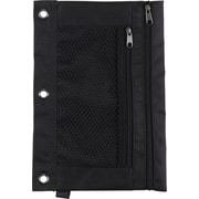 Staples 3-Ring Pencil Pouch, Black (24220)