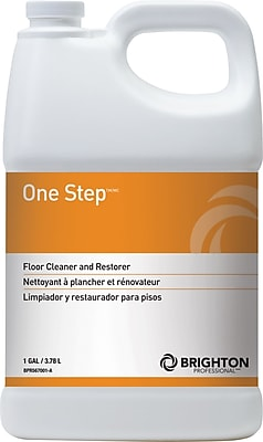 Brighton Professional™ One Step™ Floor Care Floor cleaner and restorer, 1 Gallon, 4/Ct