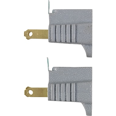 Staples Polarized Grounding Adaptor 2 Pack, Gray (22143)