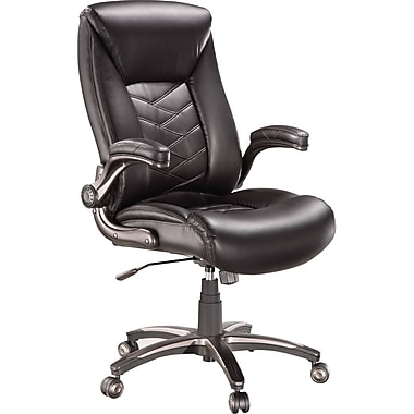 Staples Cermeno Bonded Leather Managers Chair, Brown