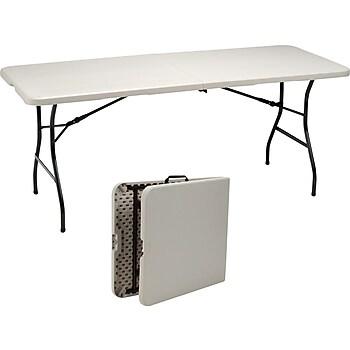 Staples 6ft. Fold in Half Folding Table
