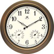"Infinity Instruments® The Craftsman 18"" Round Clock, Metal/Bronze"