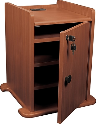Balt® Presentation Cart Cabinet, Cherry