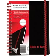 Black N' Red™ Polypropylene Notebooks with Elastic Strap