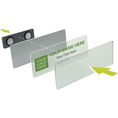 YouWho™ Name Badge Kit, Silver