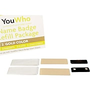 YouWho Name Tag Refill, Gold, 2-Unit