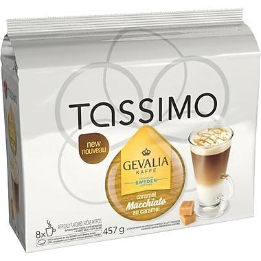 GEVALIA – Recharges T-Disc de café Macchiato saveur caramel
