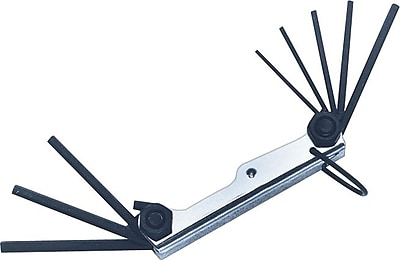 Allen® Tools 9 Pieces Standard Fold-Up Jack Key Set, 5/64 - 1/4
