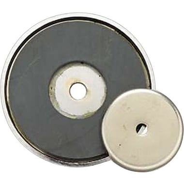 General® Tools Shallow Pot Round Ceramic Magnet, 3-1/4