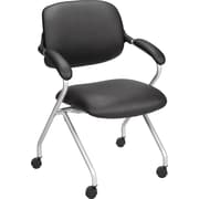 Staples Faux Leather Nesting Chair, Black (22840-CA)